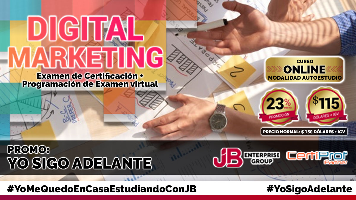 Curso Online AutoEstudio: Digital Marketing Professional Certificate (DMPC)